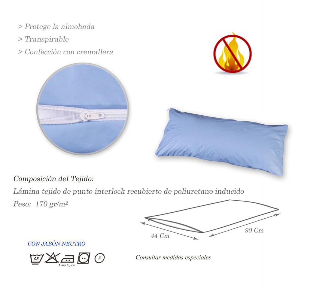 Funda de almohada poliuretano ignifuga